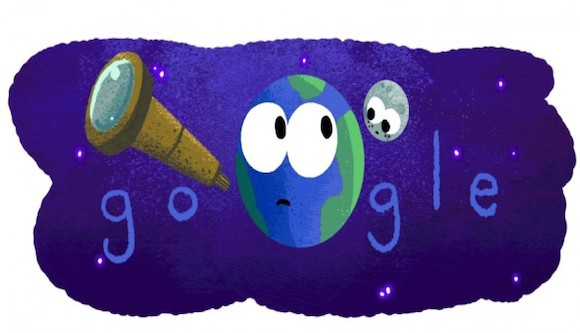 Google doodle (celebrates discovery of seven exoplanets)