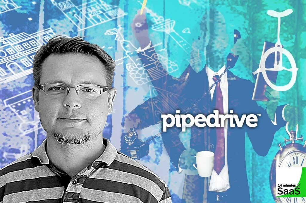 Martin Henk, Cofounder of Pipedrive, in conversation with Stephen Cummins on Episode 61 of 14 minutes of SaaS